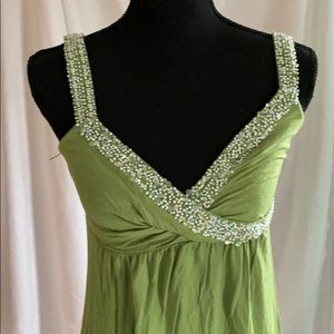 Beaded Swimsuit Cover-Up, Candy Apple Green Small